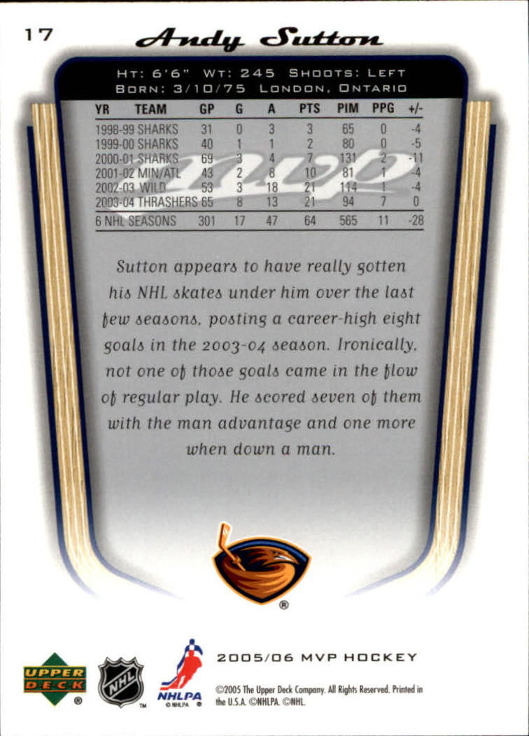2005-06-Upper-Deck-MVP-Hockey-Card-Pick-1-250 thumbnail 34