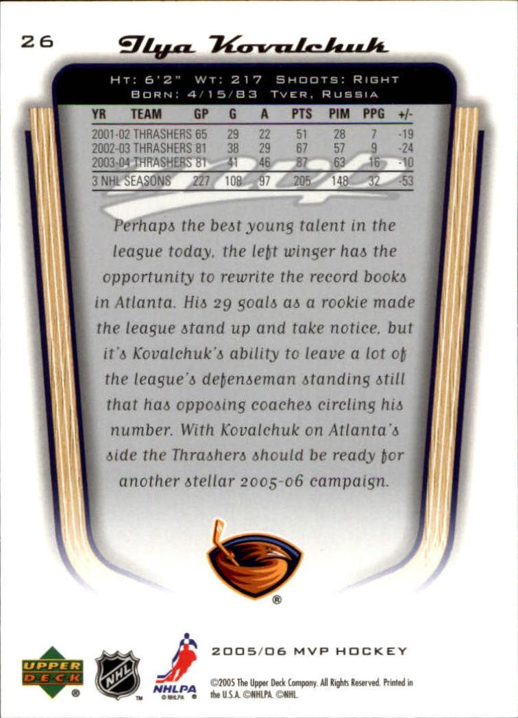 2005-06-Upper-Deck-MVP-Hockey-Card-Pick-1-250 thumbnail 48