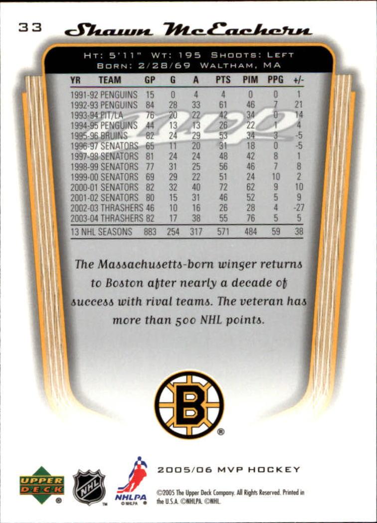 2005-06-Upper-Deck-MVP-Hockey-Card-Pick-1-250 thumbnail 62