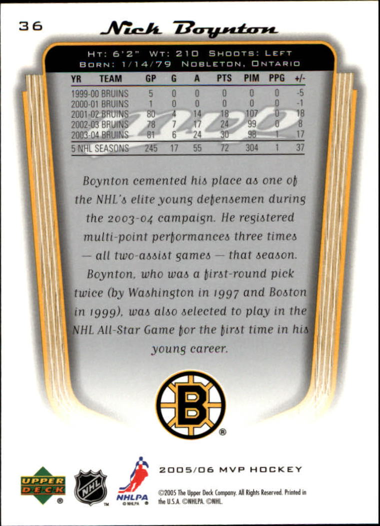 2005-06-Upper-Deck-MVP-Hockey-Card-Pick-1-250 thumbnail 68