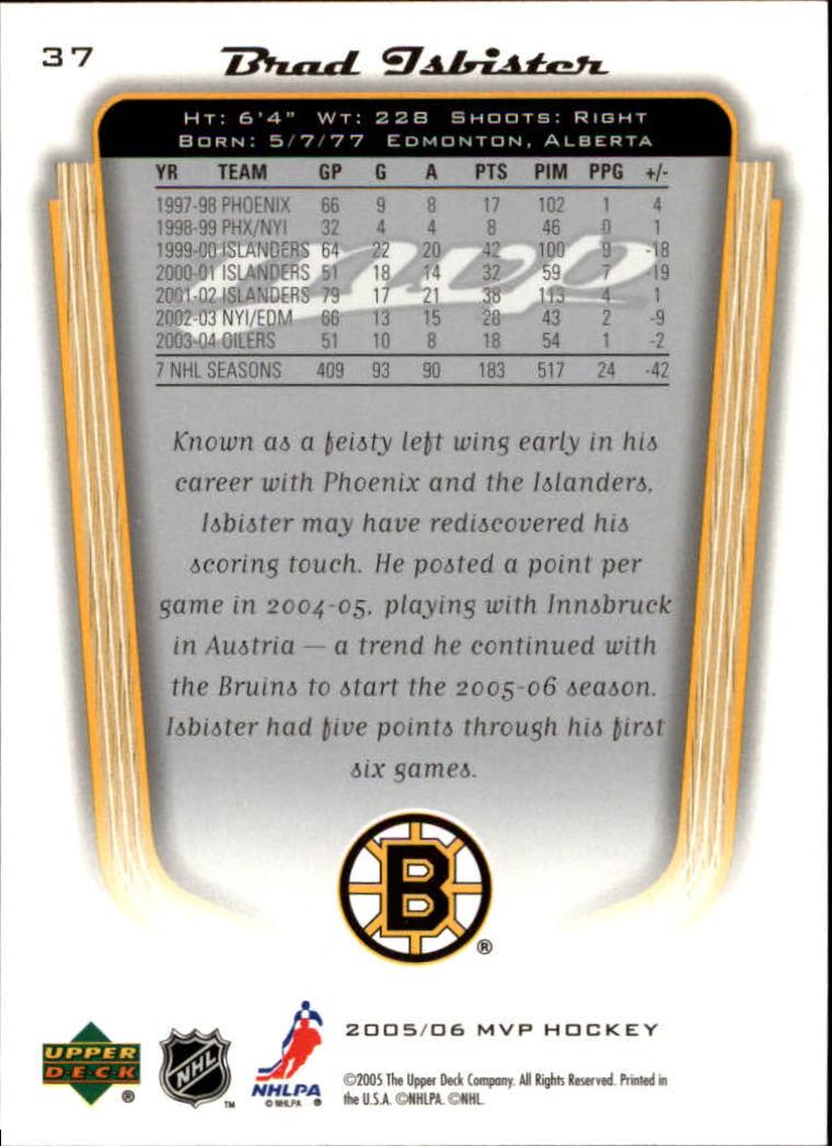 2005-06-Upper-Deck-MVP-Hockey-Card-Pick-1-250 thumbnail 70