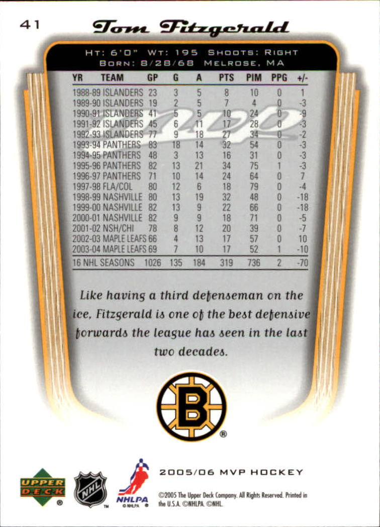 2005-06-Upper-Deck-MVP-Hockey-Card-Pick-1-250 thumbnail 78