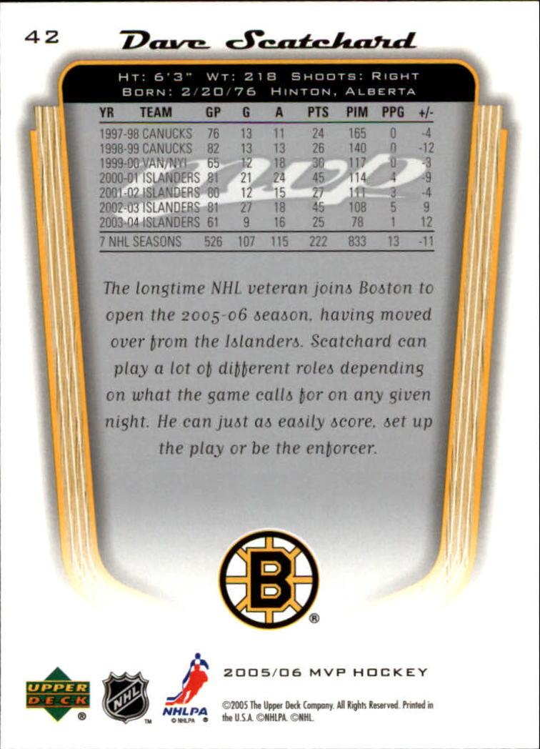 2005-06-Upper-Deck-MVP-Hockey-Card-Pick-1-250 thumbnail 80