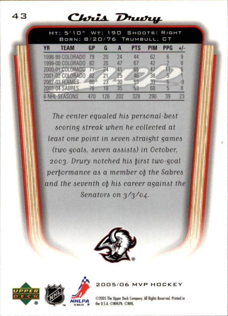 2005-06-Upper-Deck-MVP-Hockey-Card-Pick-1-250 thumbnail 82