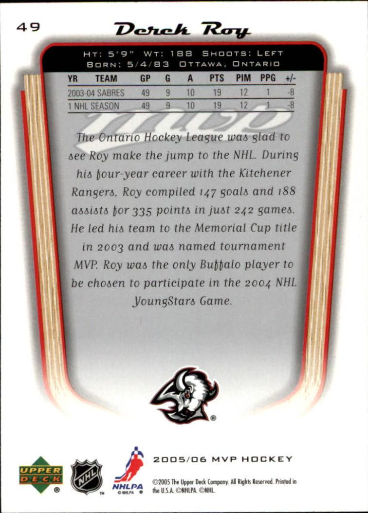 2005-06-Upper-Deck-MVP-Hockey-Card-Pick-1-250 thumbnail 94