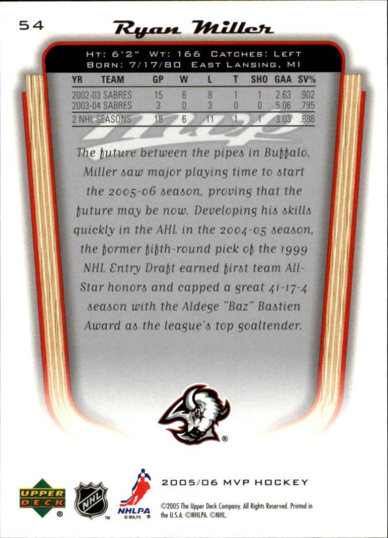 2005-06-Upper-Deck-MVP-Hockey-Card-Pick-1-250 thumbnail 102