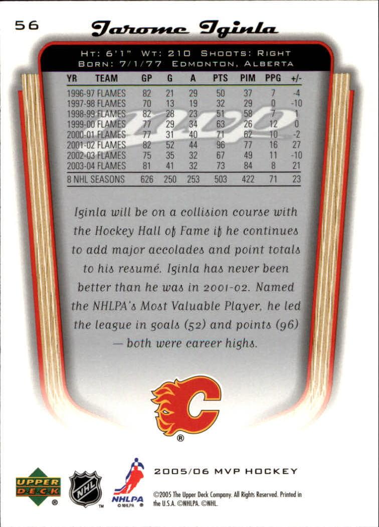 2005-06-Upper-Deck-MVP-Hockey-Card-Pick-1-250 thumbnail 106