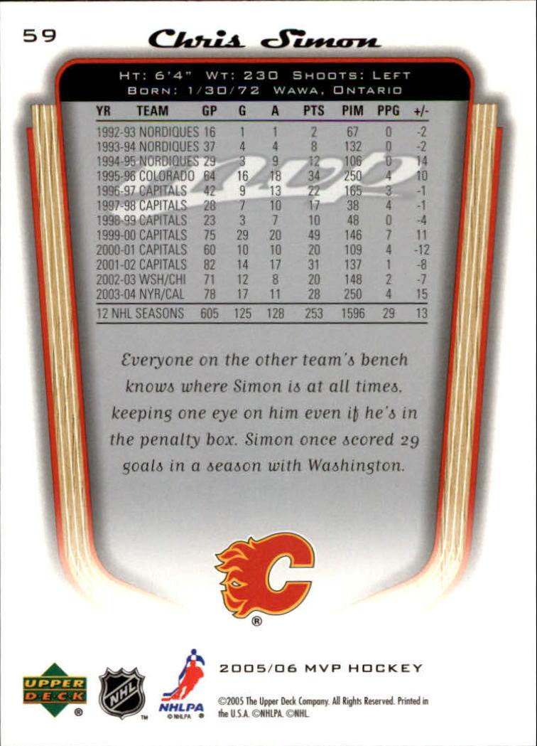 2005-06-Upper-Deck-MVP-Hockey-Card-Pick-1-250 thumbnail 112