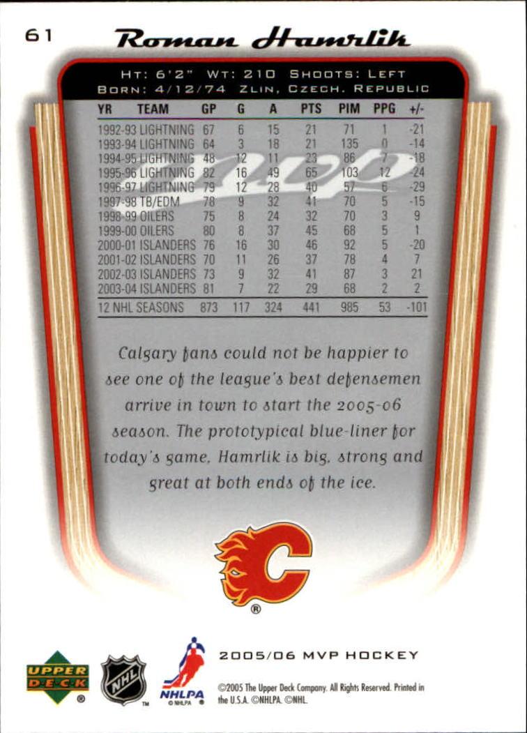 2005-06-Upper-Deck-MVP-Hockey-Card-Pick-1-250 thumbnail 116