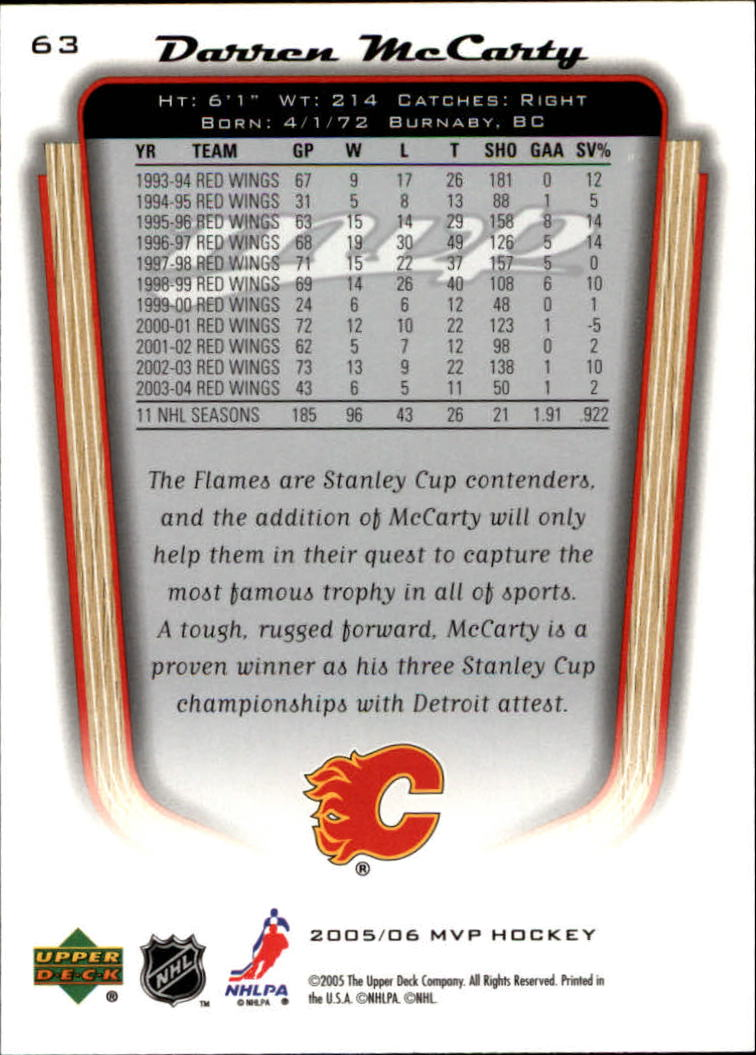 2005-06-Upper-Deck-MVP-Hockey-Card-Pick-1-250 thumbnail 120
