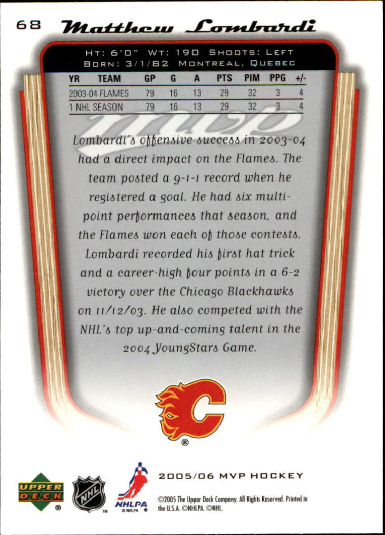 2005-06-Upper-Deck-MVP-Hockey-Card-Pick-1-250 thumbnail 130