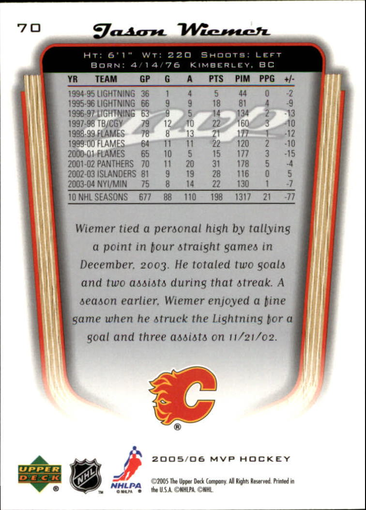 2005-06-Upper-Deck-MVP-Hockey-Card-Pick-1-250 thumbnail 134