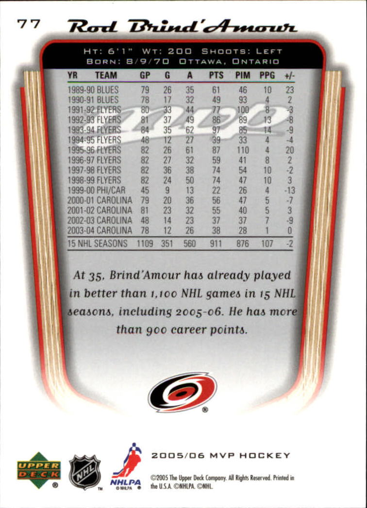 2005-06-Upper-Deck-MVP-Hockey-Card-Pick-1-250 thumbnail 148