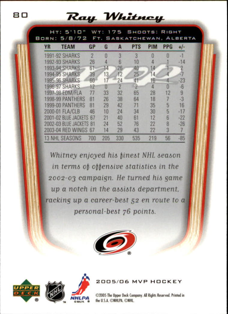 2005-06-Upper-Deck-MVP-Hockey-Card-Pick-1-250 thumbnail 154