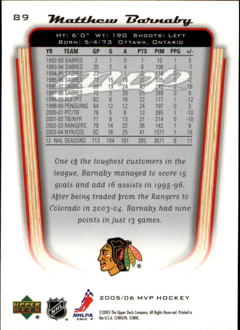 2005-06-Upper-Deck-MVP-Hockey-Card-Pick-1-250 thumbnail 170