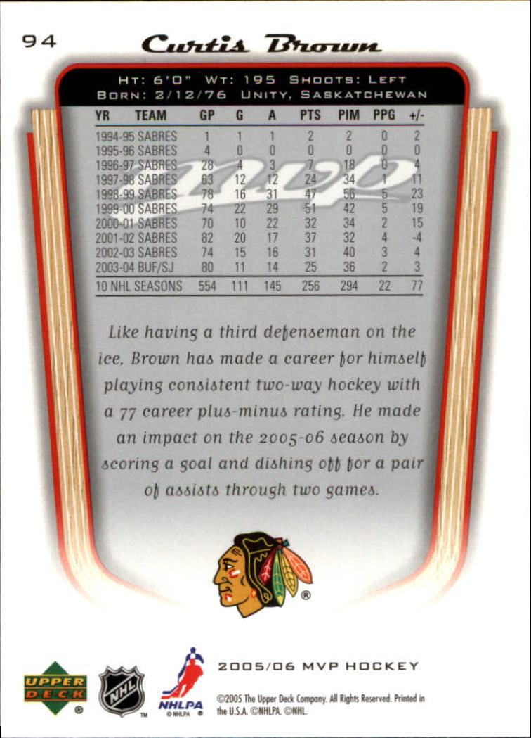 2005-06-Upper-Deck-MVP-Hockey-Card-Pick-1-250 thumbnail 178