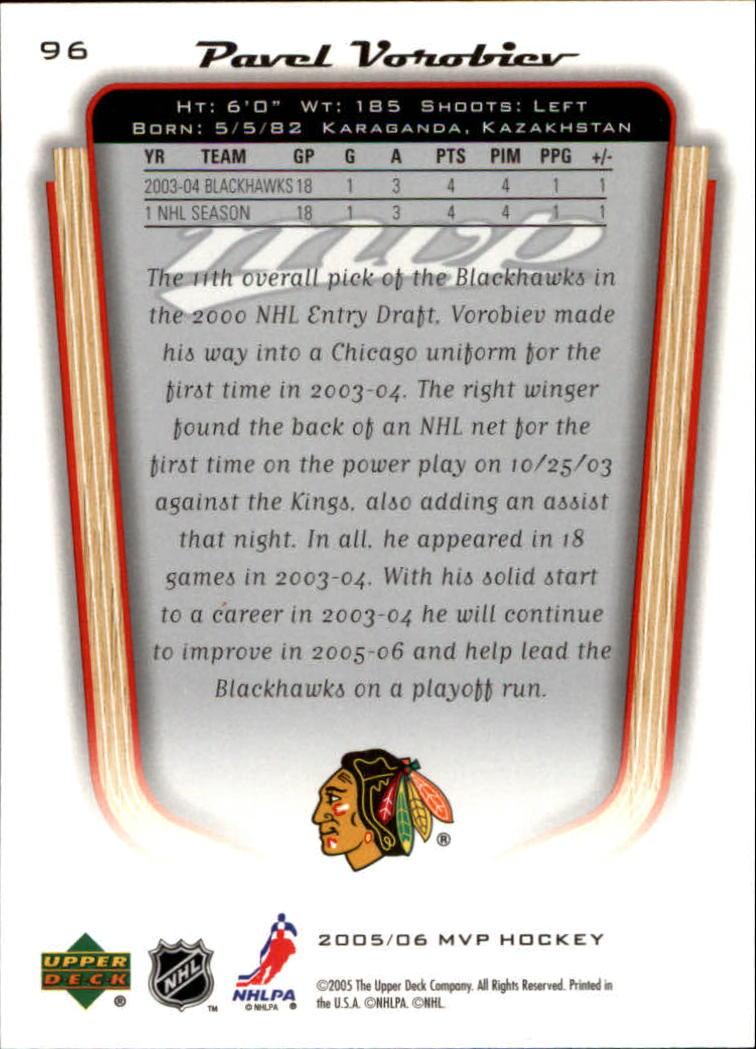 2005-06-Upper-Deck-MVP-Hockey-Card-Pick-1-250 thumbnail 180