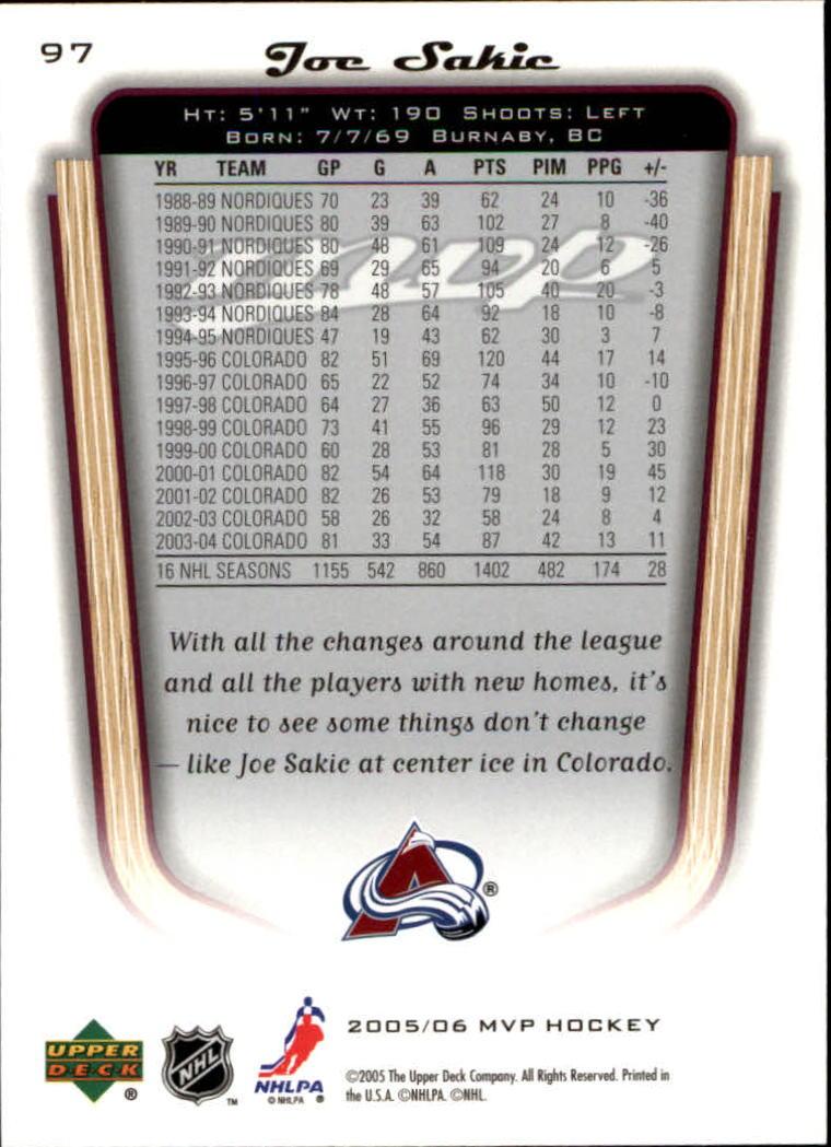 2005-06-Upper-Deck-MVP-Hockey-Card-Pick-1-250 thumbnail 182
