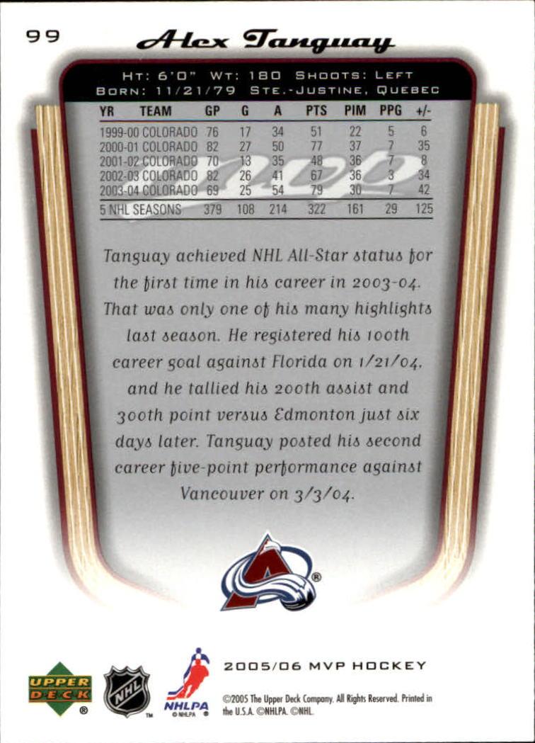 2005-06-Upper-Deck-MVP-Hockey-Card-Pick-1-250 thumbnail 186