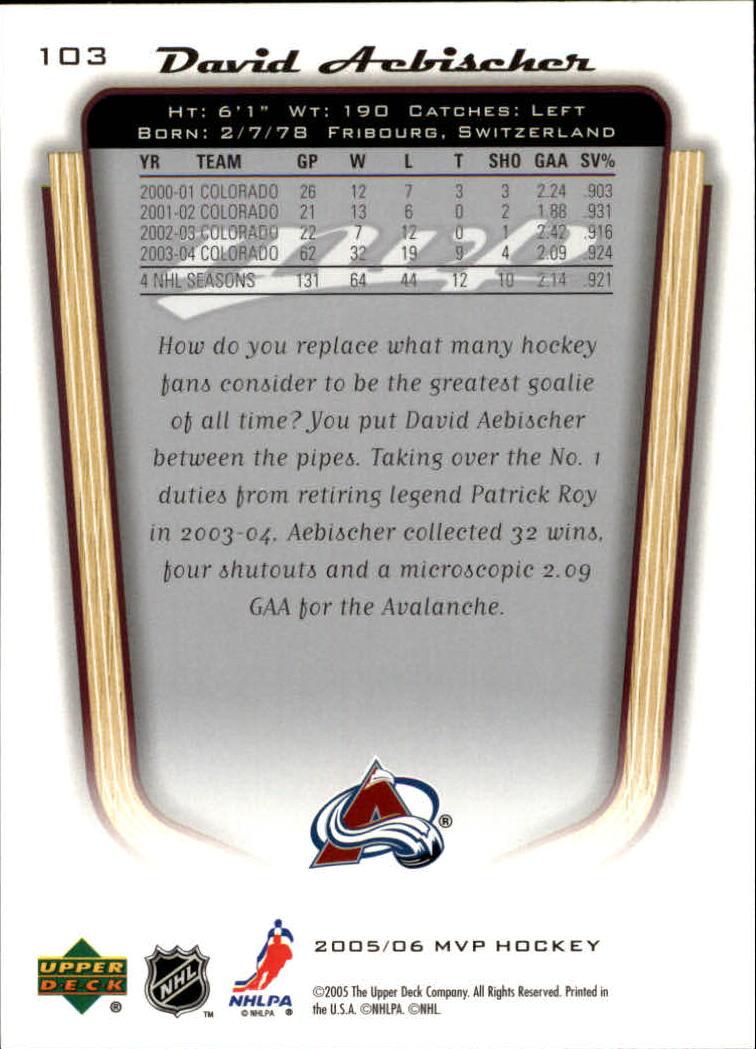 2005-06-Upper-Deck-MVP-Hockey-Card-Pick-1-250 thumbnail 194