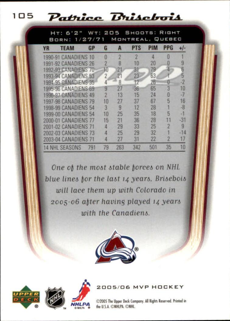 2005-06-Upper-Deck-MVP-Hockey-Card-Pick-1-250 thumbnail 198