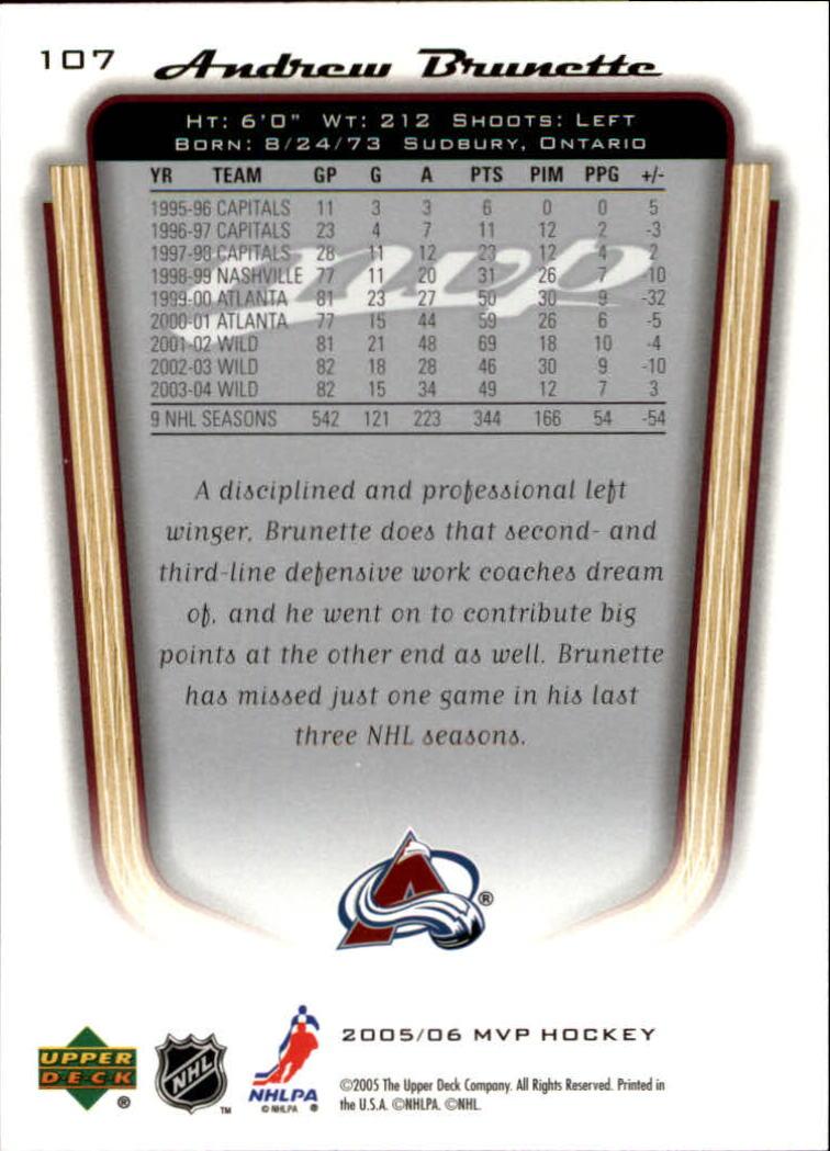 2005-06-Upper-Deck-MVP-Hockey-Card-Pick-1-250 thumbnail 202