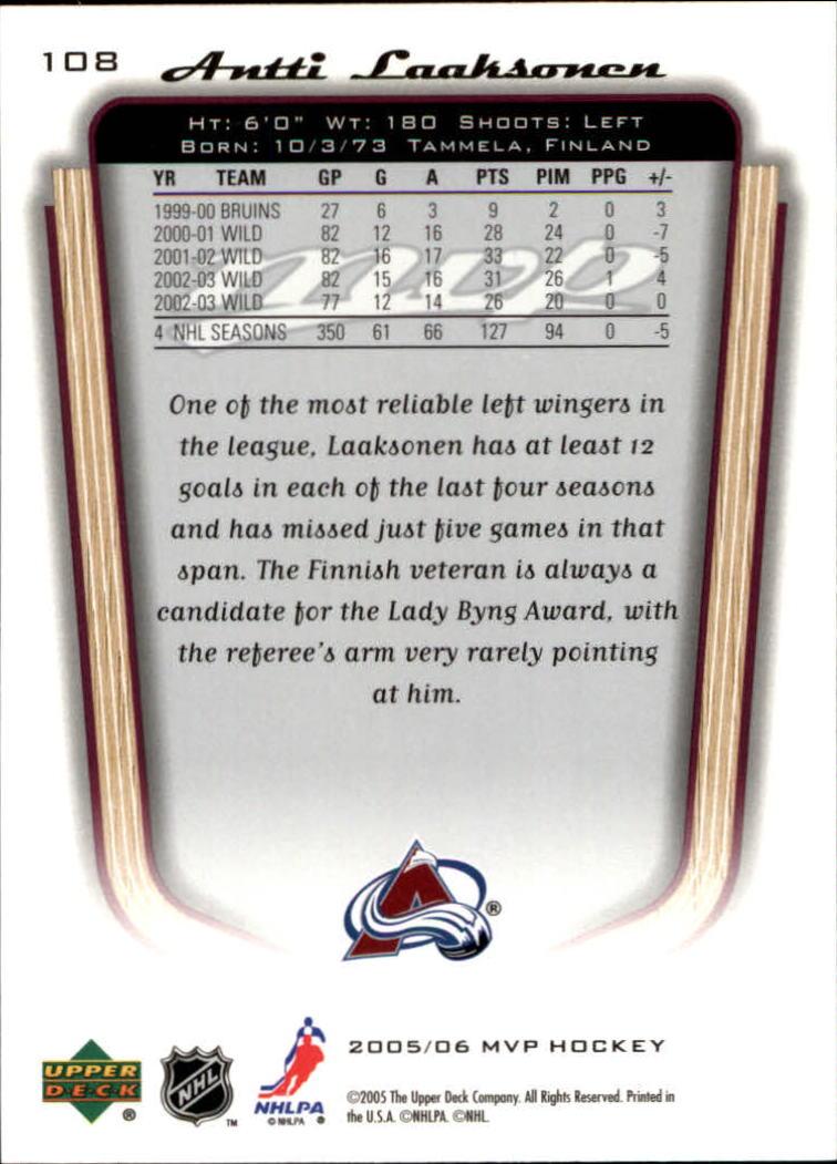 2005-06-Upper-Deck-MVP-Hockey-Card-Pick-1-250 thumbnail 204