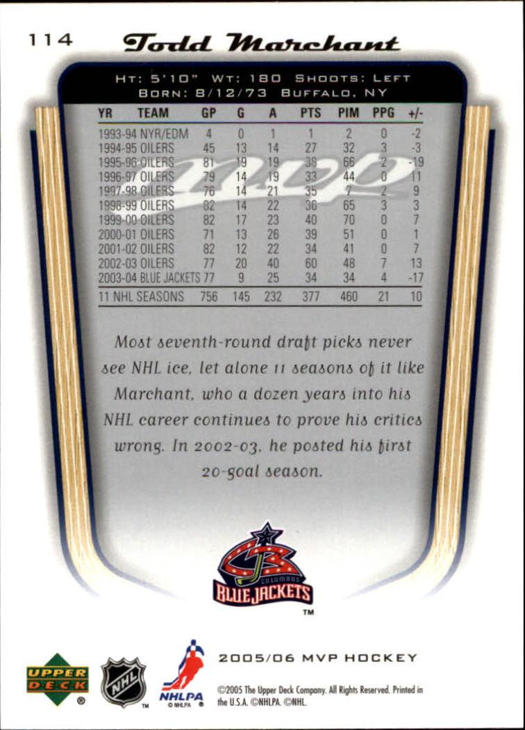 2005-06-Upper-Deck-MVP-Hockey-Card-Pick-1-250 thumbnail 214
