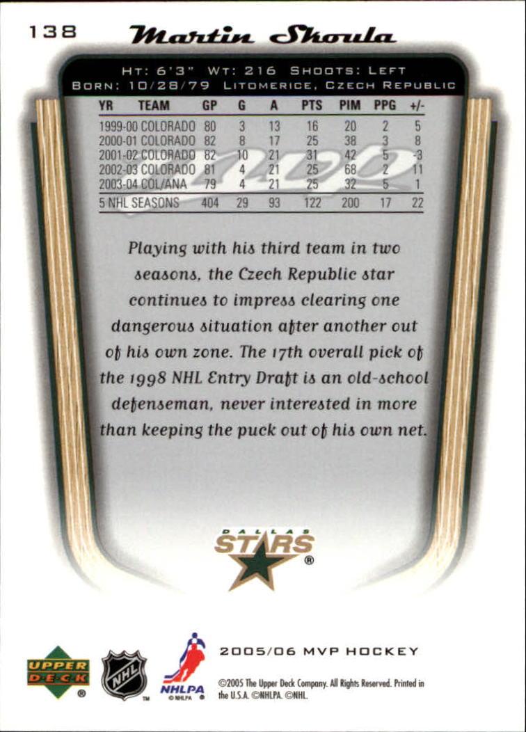 2005-06-Upper-Deck-MVP-Hockey-Card-Pick-1-250 thumbnail 260