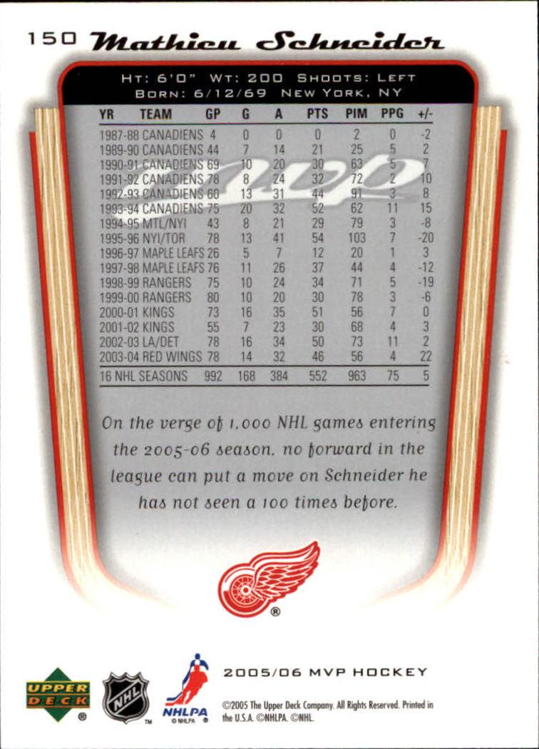2005-06-Upper-Deck-MVP-Hockey-Card-Pick-1-250 thumbnail 280