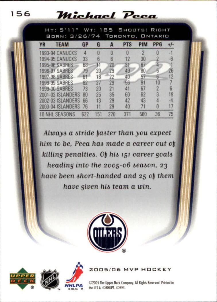 2005-06-Upper-Deck-MVP-Hockey-Card-Pick-1-250 thumbnail 290