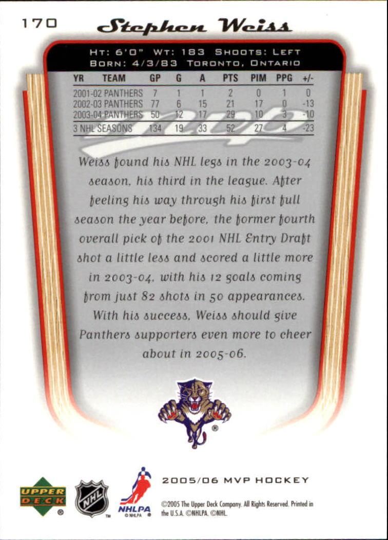2005-06-Upper-Deck-MVP-Hockey-Card-Pick-1-250 thumbnail 316