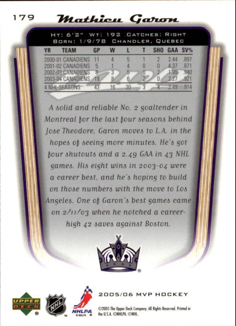 2005-06-Upper-Deck-MVP-Hockey-Card-Pick-1-250 thumbnail 334