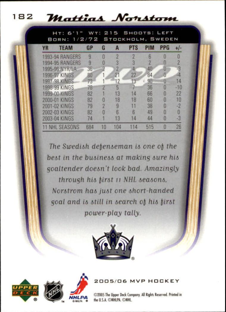 2005-06-Upper-Deck-MVP-Hockey-Card-Pick-1-250 thumbnail 340