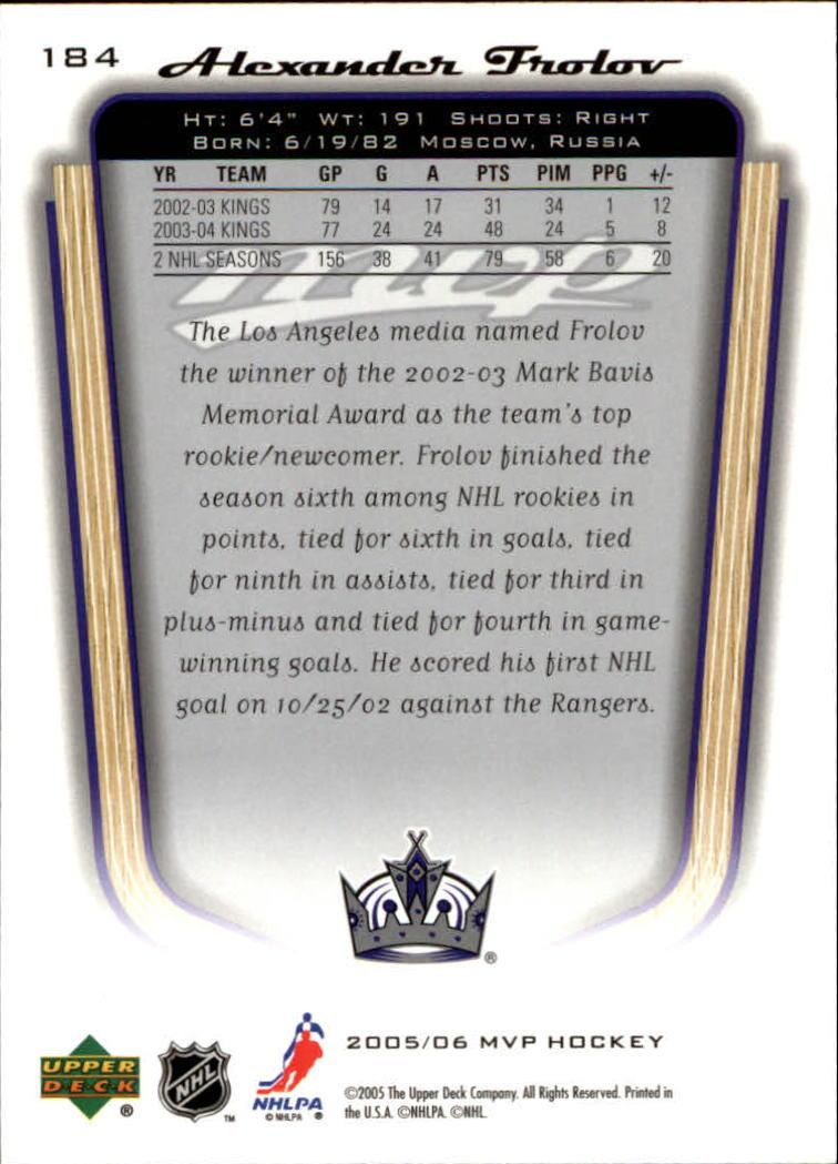 2005-06-Upper-Deck-MVP-Hockey-Card-Pick-1-250 thumbnail 344