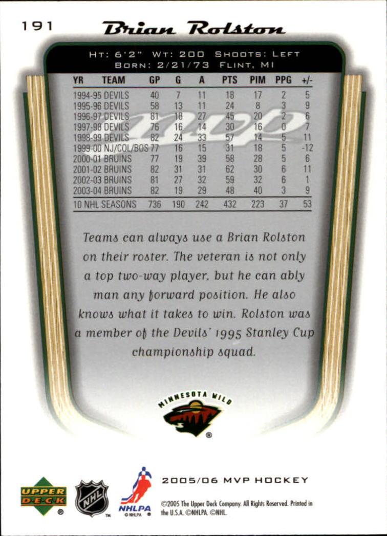2005-06-Upper-Deck-MVP-Hockey-Card-Pick-1-250 thumbnail 356