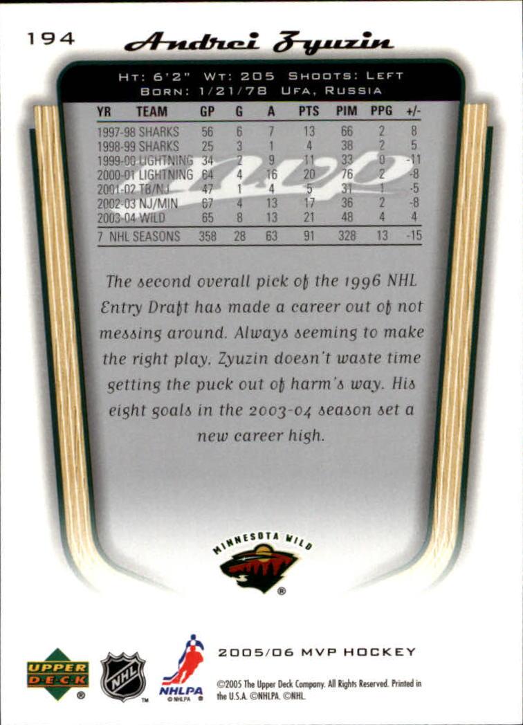 2005-06-Upper-Deck-MVP-Hockey-Card-Pick-1-250 thumbnail 362