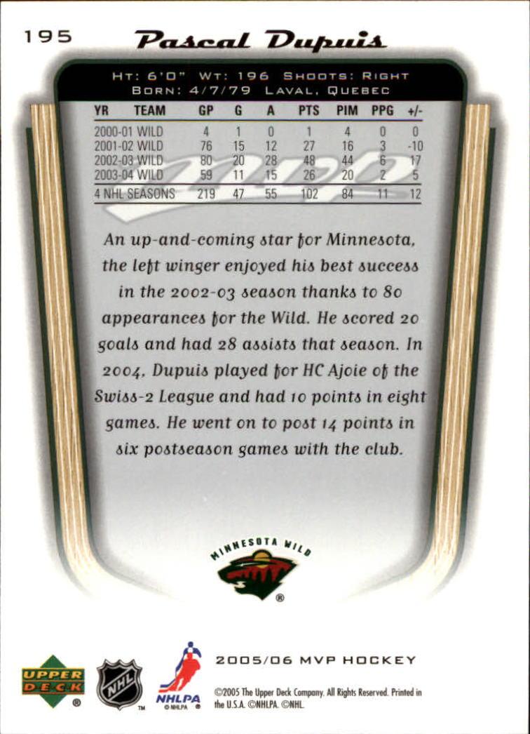 2005-06-Upper-Deck-MVP-Hockey-Card-Pick-1-250 thumbnail 364