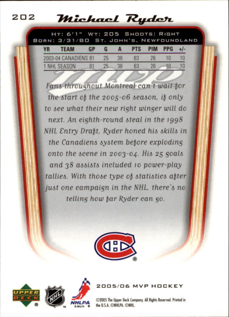 2005-06-Upper-Deck-MVP-Hockey-Card-Pick-1-250 thumbnail 376