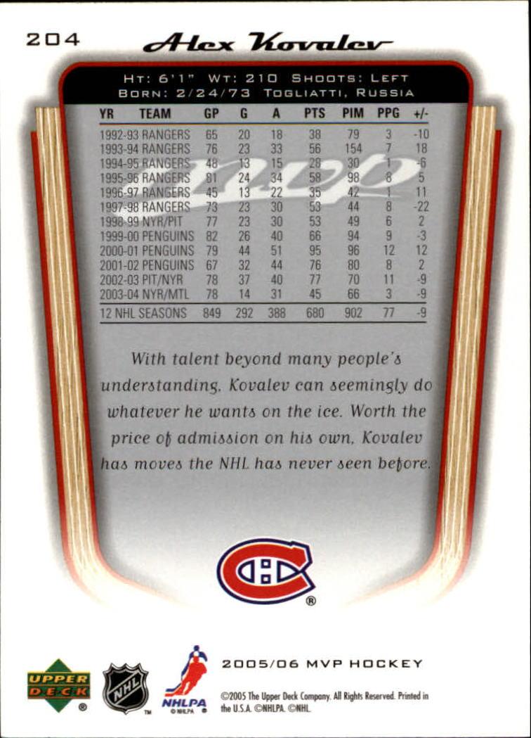 2005-06-Upper-Deck-MVP-Hockey-Card-Pick-1-250 thumbnail 380