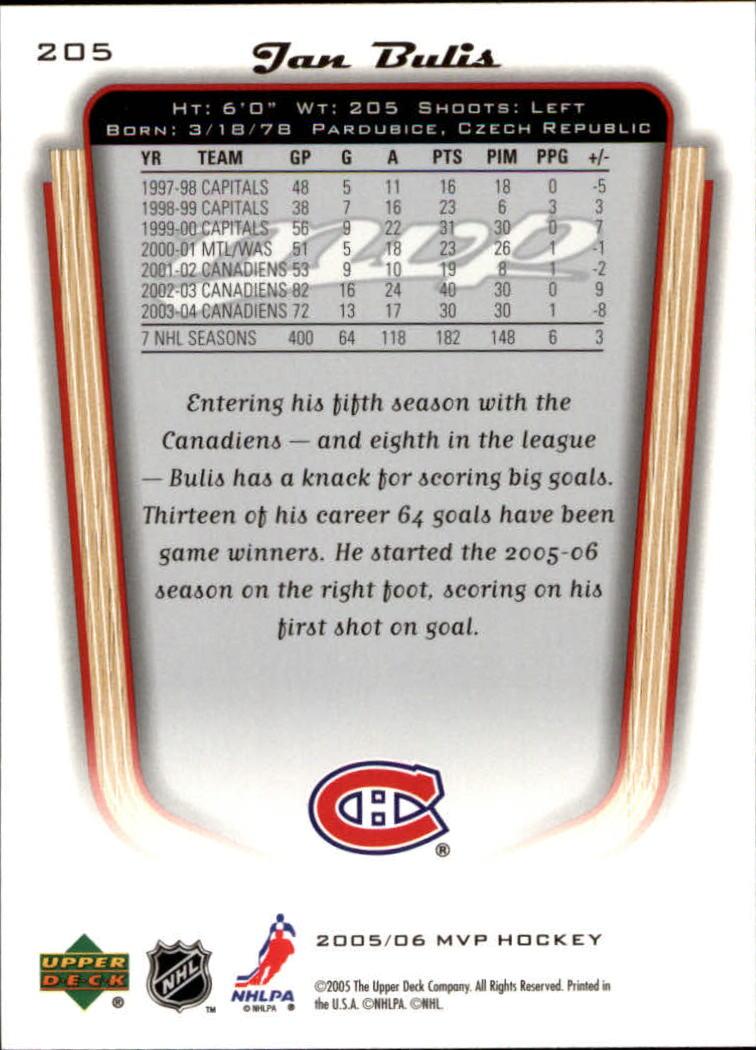 2005-06-Upper-Deck-MVP-Hockey-Card-Pick-1-250 thumbnail 382