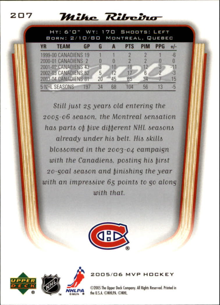 2005-06-Upper-Deck-MVP-Hockey-Card-Pick-1-250 thumbnail 386