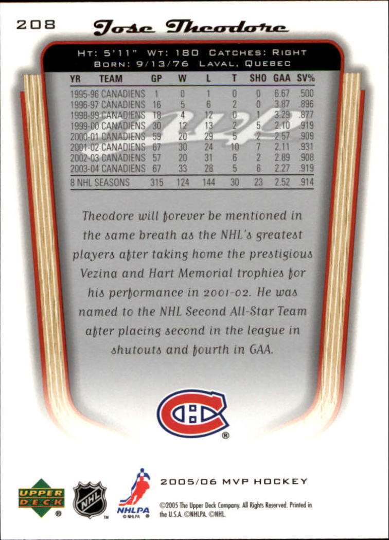 2005-06-Upper-Deck-MVP-Hockey-Card-Pick-1-250 thumbnail 388