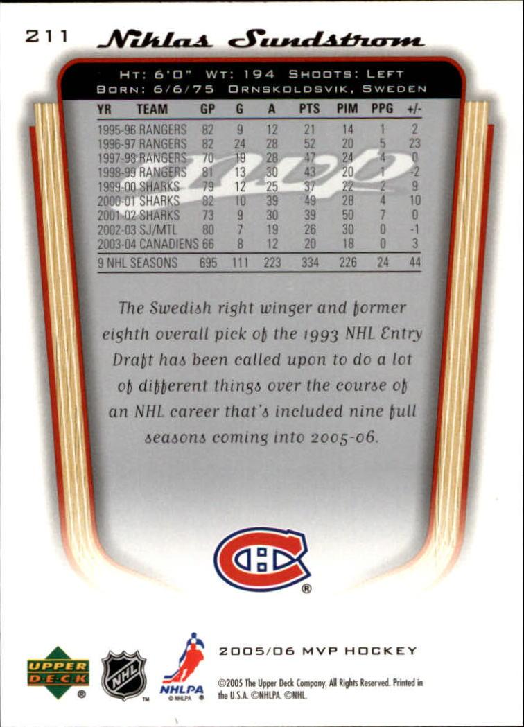 2005-06-Upper-Deck-MVP-Hockey-Card-Pick-1-250 thumbnail 392