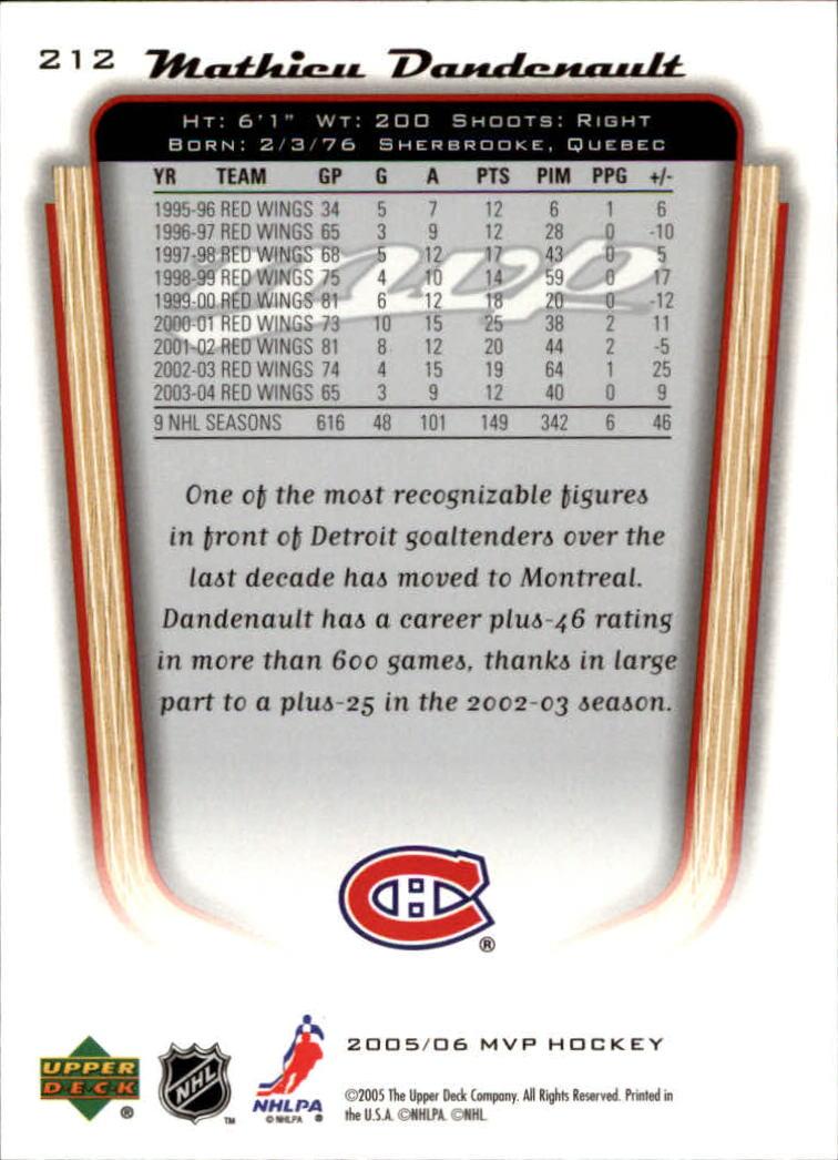 2005-06-Upper-Deck-MVP-Hockey-Card-Pick-1-250 thumbnail 394