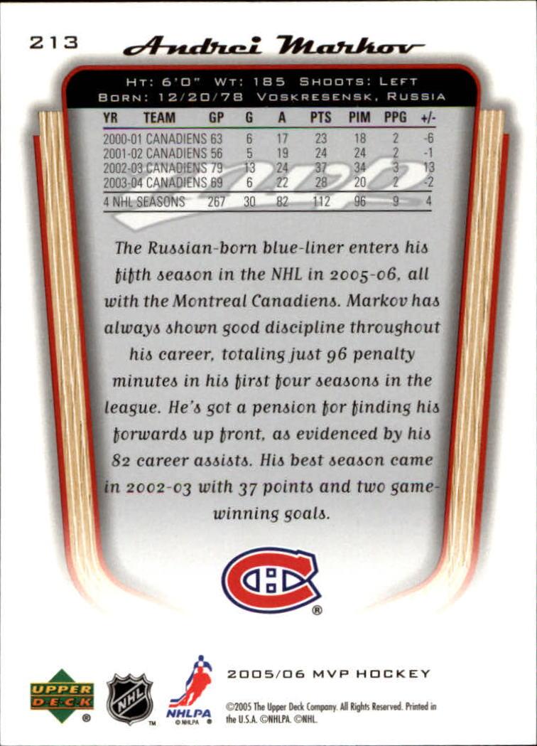 2005-06-Upper-Deck-MVP-Hockey-Card-Pick-1-250 thumbnail 396