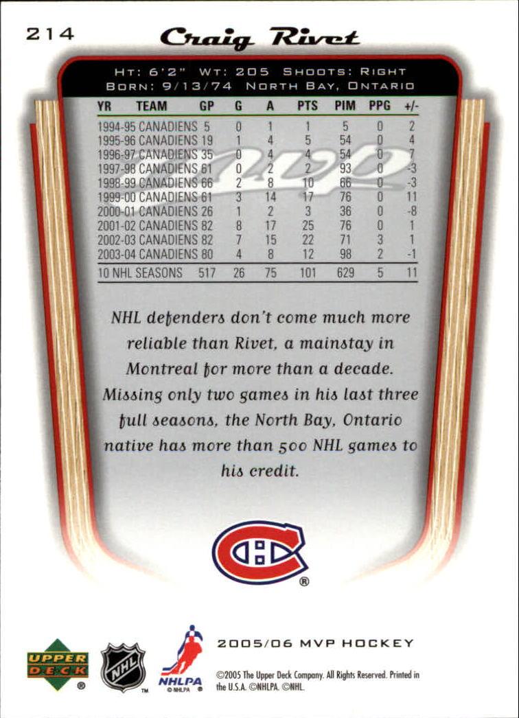 2005-06-Upper-Deck-MVP-Hockey-Card-Pick-1-250 thumbnail 398