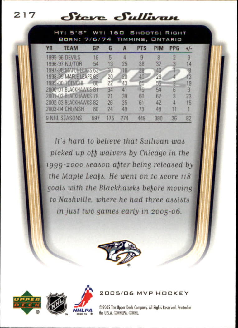 2005-06-Upper-Deck-MVP-Hockey-Card-Pick-1-250 thumbnail 404