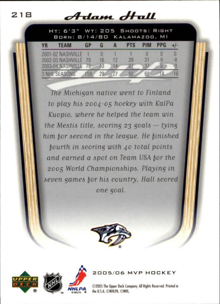 2005-06-Upper-Deck-MVP-Hockey-Card-Pick-1-250 thumbnail 406