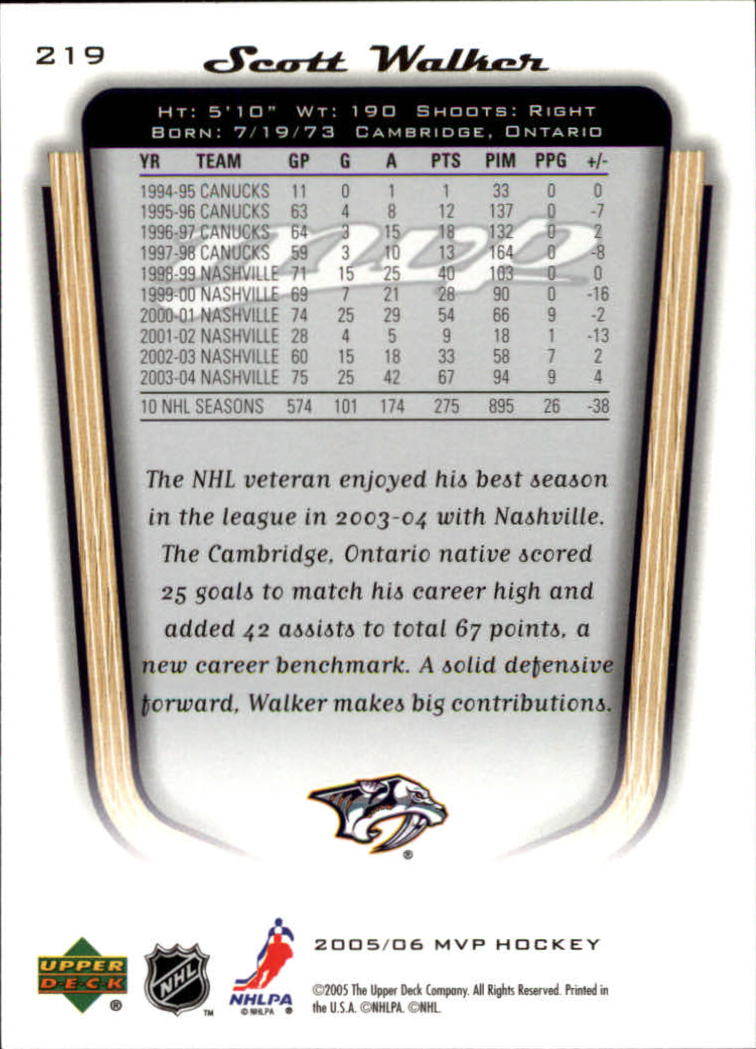 2005-06-Upper-Deck-MVP-Hockey-Card-Pick-1-250 thumbnail 408